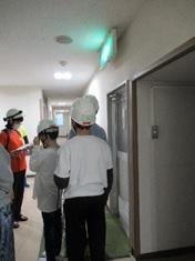 寄宿舎避難訓練の様子