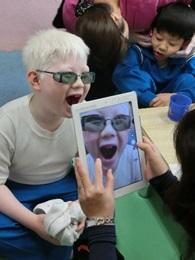 iPadを使って拡大
