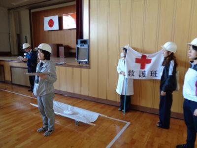 救護班設置の様子