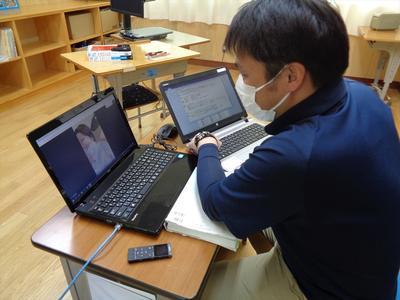オンライン学習の様子1
